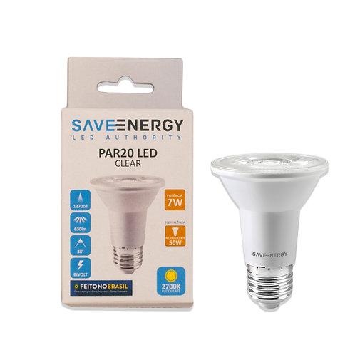 Par 20 Save Energy 7W 2700k Amarela Bivolt 630 Lum.