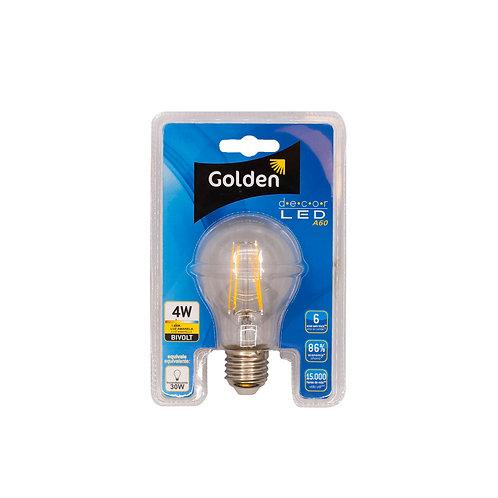 Bulbo Golden Filamento 4W Ambar (1800k) 350 Lum.