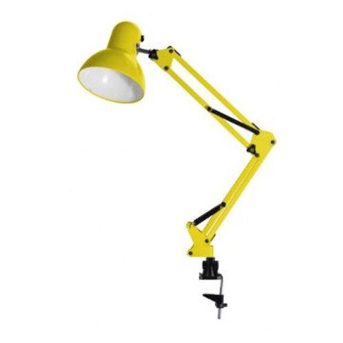 Luminária de Mesa Articulada c/ Garra 1L E-27 Amarela
