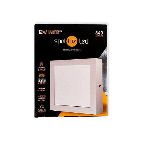 Painel LED SpotLux Sobrepor Quadrado 12W