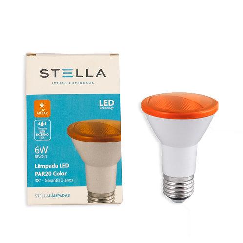 Par 20 Stella IP65 Externo 6W Ambar Bivolt 525 Lum.