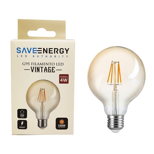 Balloon G95 Save Energy 4W 2200k ambar biv 300 lumens