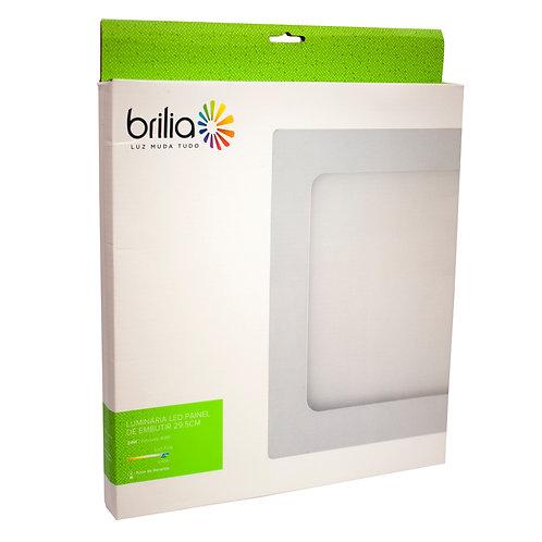 Painel LED Brilia 29,5x29,5 6500k 24W Embutir