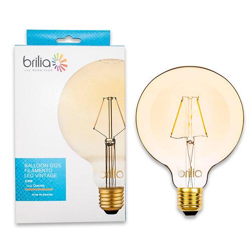 Balloon Filamento LED Vintage Brilia 2,5w Ambar 200 Lum.