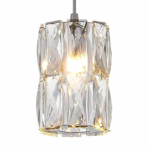Pendente cromado com cristal CLEAR - JLR Iluminação