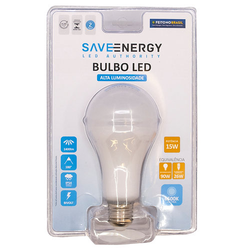 Bulbo Save Energy 15W 6500k