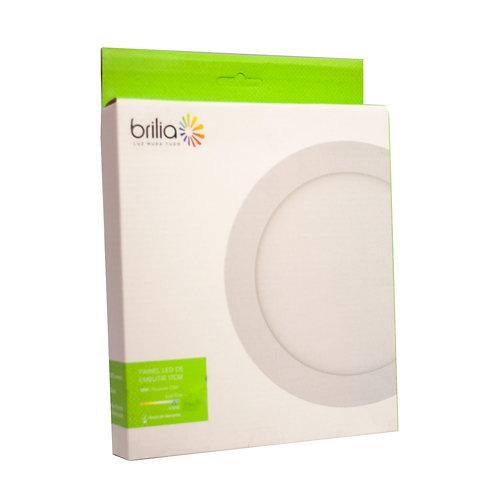 Painel LED Brilia Redondo 17 cm 12W 6500k Embutir