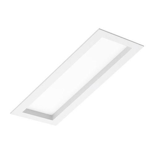 uminária de embutir com visor recuado em acrílico para lâmpadas Fluorescentes