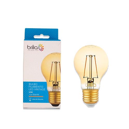 Bulbo Brilia Filamento 2,5W Ambar 200 Lum.