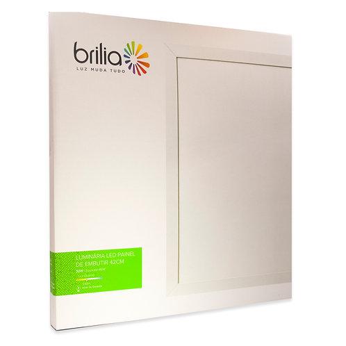 Painel LED Brilia 42x42 32W 3000k Embutir