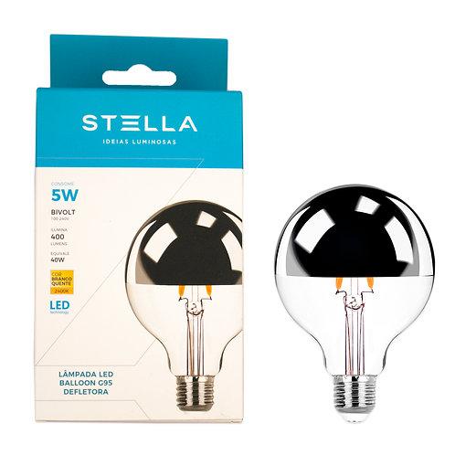 Balloon Stella Defletora 5W G95 2700k Amarela 400 Lum.