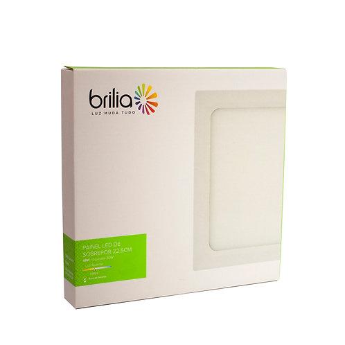 Painel LED Brilia 22,5x22,5 3000k 18W Sobrepor