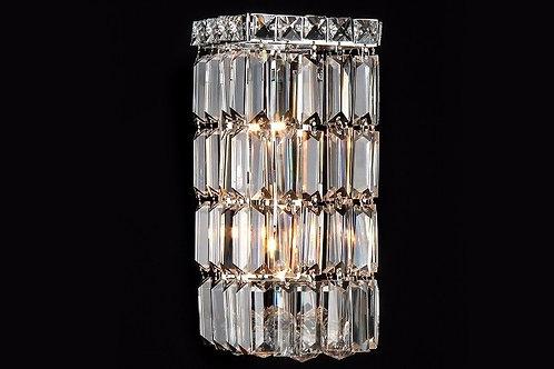 Arandela Montreux de Cristal K9 Palito Retangular - Chandelie