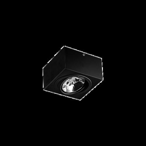 Spot Revoluz de sobrepor com facho orientável para  AR111 LED 1L Preto