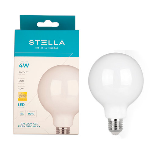 Balloon Milk Stella 4W 2700k Amarela 400 Lum.