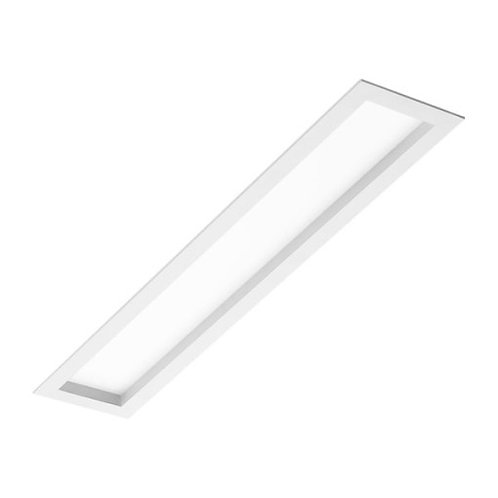 Plafon de embutir com visor recuado em acrílico  para lâmpada Fluorescente