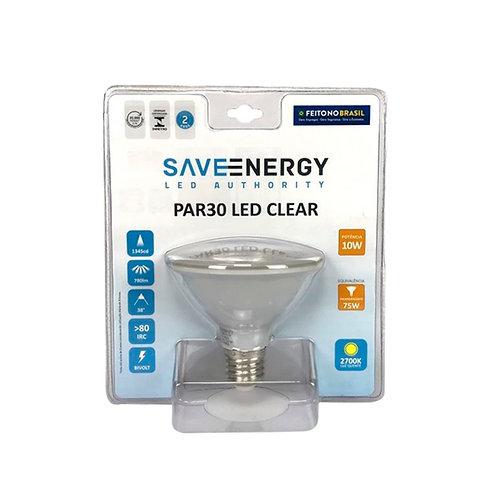 Par 30 Save Energy 10W 2700k Amarela Bivolt 740 Lum.