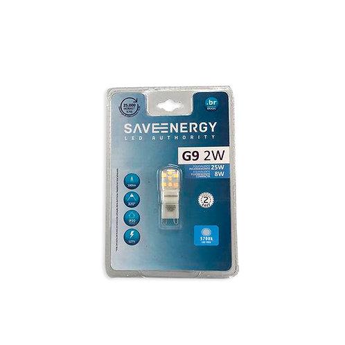 G9 Save Energy 2W 5700k 180 Lum. Branca