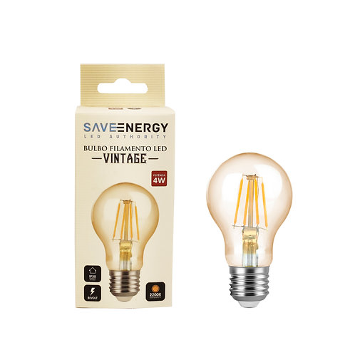 Bulbo Vintage Save Energy 4w 2200k Biv 300 lumens