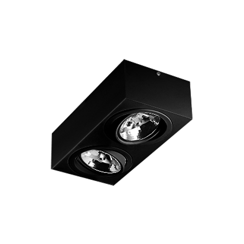 Spot Revoluz de sobrepor com facho orientável para lâmpada AR111 LED 2L