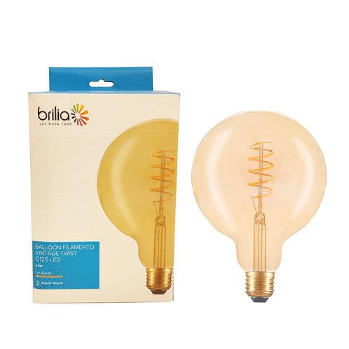 G125 Balloon Brilia Filamento Vintage Loop 4,5w 250 lumens biv. Ambar