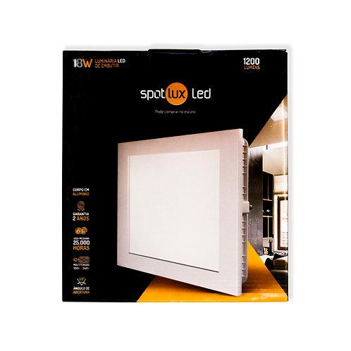 Painel LED SpotLux Embutido Quadrado 18W