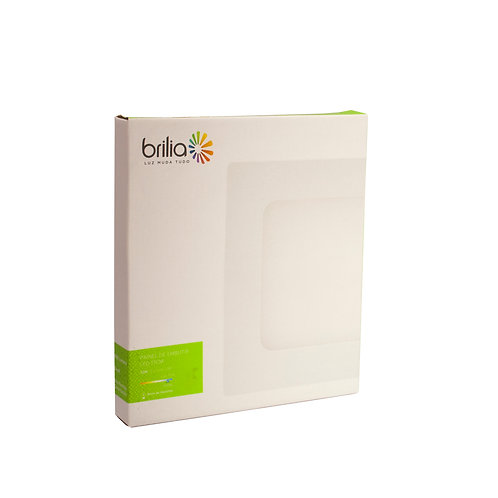 Painel LED Brilia 17x17 6500k 12W Embutir