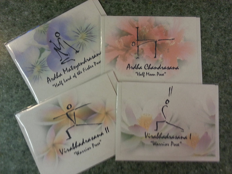 4 Hemp Greeting Cards - 1 ea design