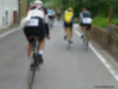 Some of the Old Time Cyclists on one of many Vintage Granfondo's in Italy.