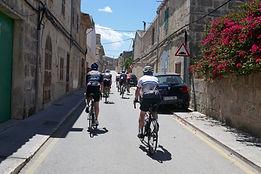 Riding through the streets on Mallorca w
