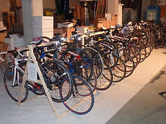 Your Cycling Italia's Bicycle Storage Room at YCI's Hotel in Italy.