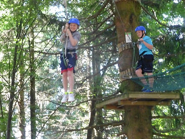 Steven and Shayne Enjoying Zip Lining on Monte Grappa in Italy.