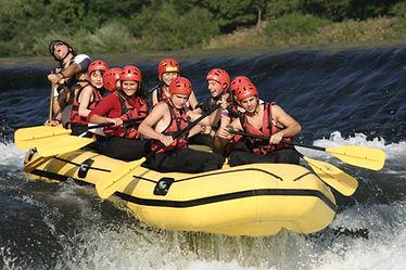 Rafting on the Brenta River Near Bassano Italy.