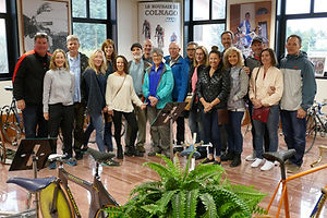 The Italian Colnago bicycle factory museum visit with our clients with Your Cycling Italia's bicycle tours.