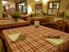 The Comfortable Dinning Room at the Restaurant of Your Cycling Italia's Hotel in Italy.