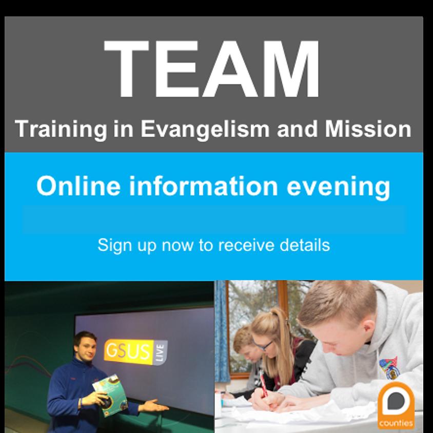 TEAM Online Info Evening June 2021