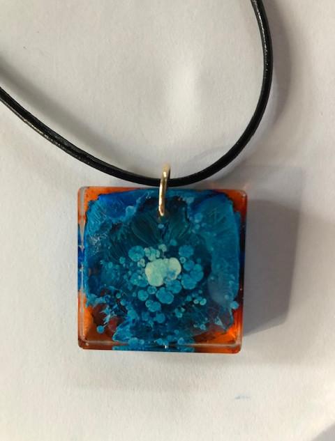 SOLD - square pendant