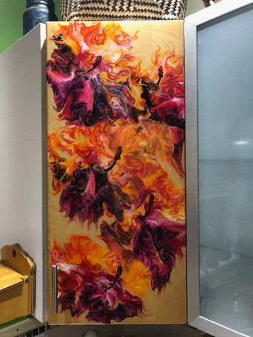 Cabinet with Resin Finish