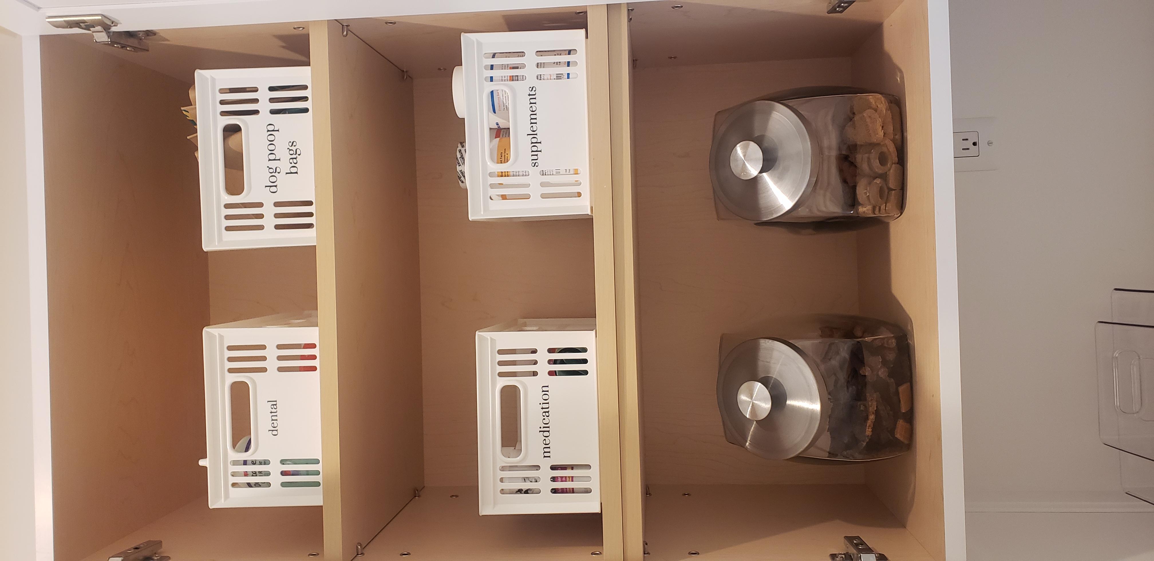 Organized Storage Cabinet