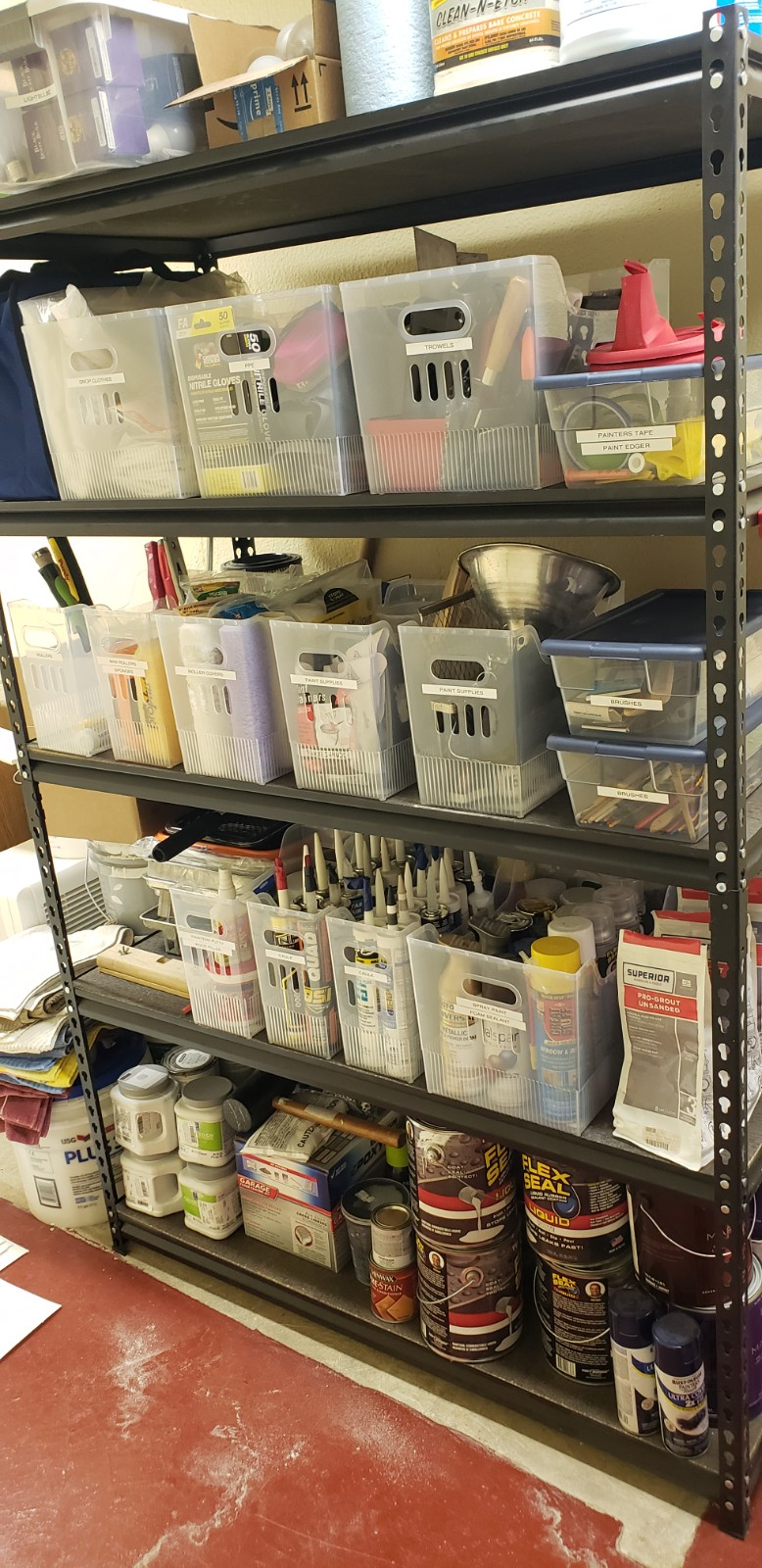 Painting/Tool Organization