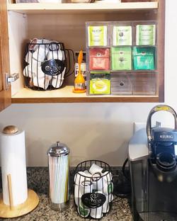 Organized Beverage Cabinet