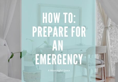 A Meaningful Space: Preparing for An Emergency