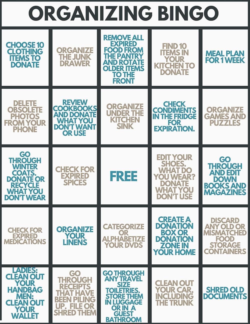 Organizing Bingo
