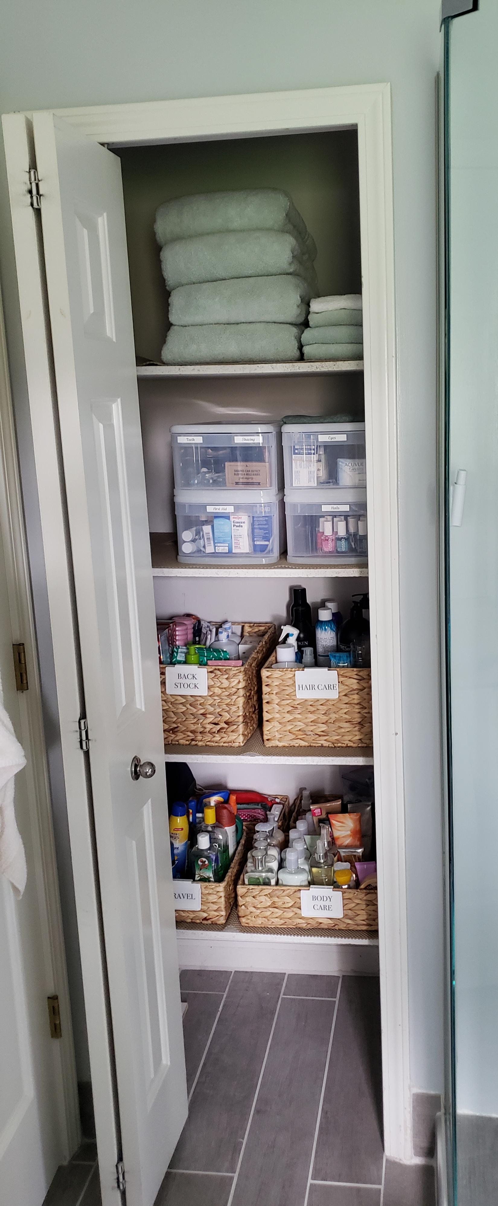 Bathroom Closet Organization