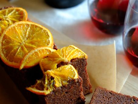 しっとりオレンジチョコレートケーキ
