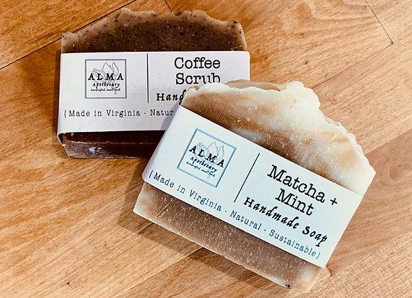 Locally made coffee & tea soaps