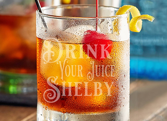 Etched Whiskey Glass - Drink Your Juice