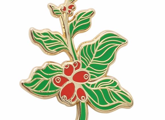 Coffee Berry—Coffee Branch Lapel Pin Enamel Pin