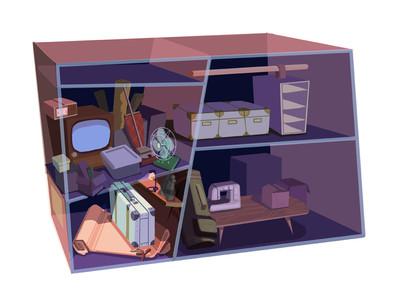 Closet concept (James' living space)