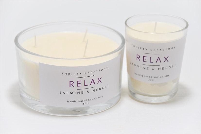 Relax Jasmine & Neroli Soy Candle